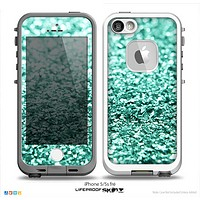 The Aqua Green Glimmer Skin for the iPhone 5-5s fr_ LifeProof Case