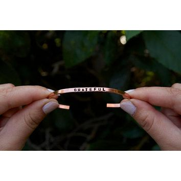 Grateful Cuff Bracelet in Copper
