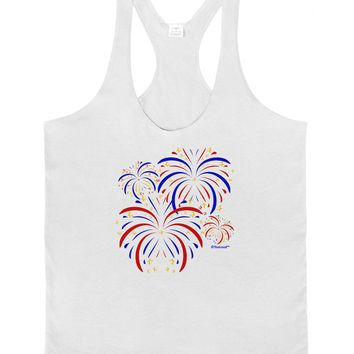 Patriotic Fireworks with Bursting Stars Mens String Tank Top by TooLoud