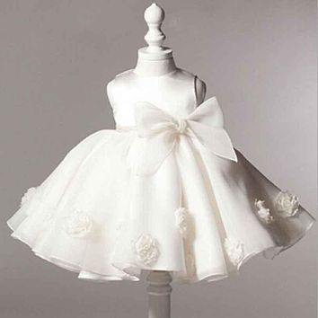 Flower baby Girl Dress Princess Wedding Dresses for Girls Elegant Kids Party Wear Ceremonies Birthday Baptism Cake Dress YAA039