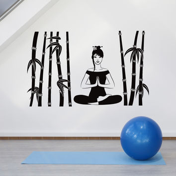 Vinyl Wall Decal Meditation Room Cane Zen Yoga Center Decor Stickers Unique Gift (ig4791)
