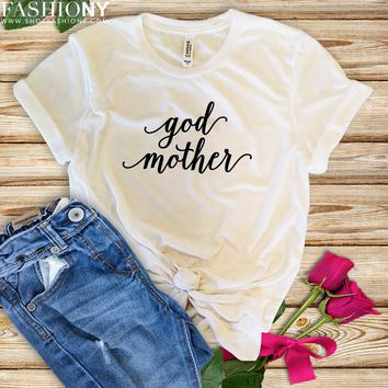 MORE STYLES! Godmother Pregnancy Reveal, Funny Graphic Tees, Tank-Tops & Sweatshirts
