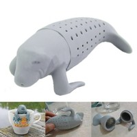 Outop Silicone Manatee Diffuser Infuser Loose Tea Leaf Strainer Herbal Spice Filter
