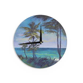 "Carol Schiff ""Room With A View"" Blue Teal Wall Clock"