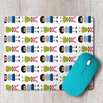 Rectangle Mouse Pad Tina And Louise Belcher