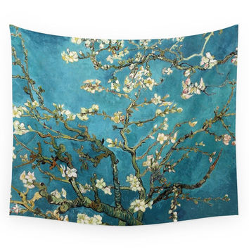 Society6 Blossoming Almond Trees Vincent Van Gogh Wall Tapestry