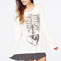 DAISY BONES RAINY BEACHHOUSE T at Wildfox Couture in  CHMP, -CLEAN WHITE