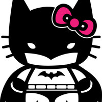 Hello Batty! Hello Kitty Batman Decal