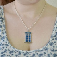 Doctor Who Tardis Police Box necklace - Bows Jewellery