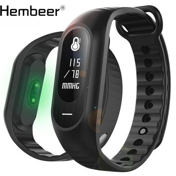 Blood Pressure Smart Bracelet Heart Rate Monitor Fitness Watch Activity Tracker Wristband Alarm Clock Vibration PK Fitbits