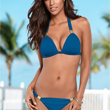Mykonos Blue Goddess Enhancer Push Up Bikini | VENUS