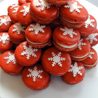 French Macaron Christmas Snow Flake ORGANIC by themacaronqueen