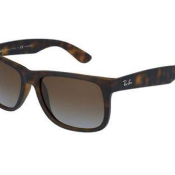 NEW Ray Ban RB4165 865T5 Havana Rubber Mens Womens Sunglasses Glasses Polarised
