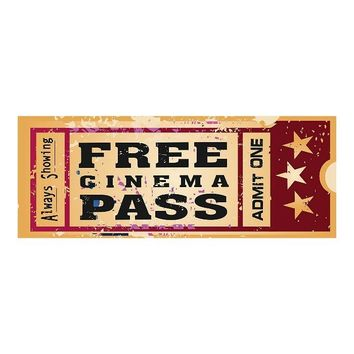 Movie Pass Metal Wall Sign