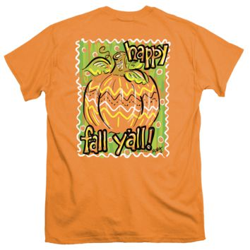 Itsa girl Thing it's Fall Y'all Pumpkin Bright Girlie T-Shirt
