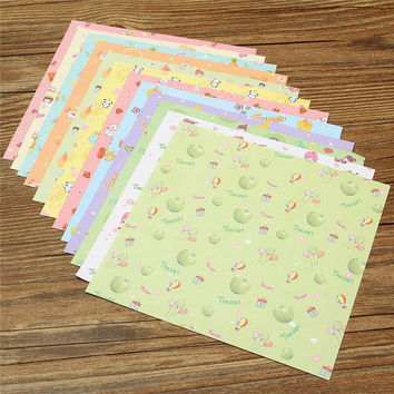 Cute 72PCS SET Square Floral Pattern Origami Paper Single Sided DIY Kids Folded Paper Craft Scrapbooking Decor Pattern Randomly