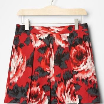 Gap Girls Floral Pleated Skirt