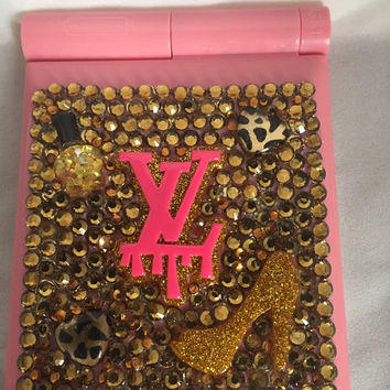 Led compact mirrors, blinged out mirrors, mirrors, compacts,