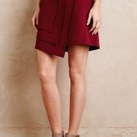 Raoul Layered Wrap Skirt in Wine Size: