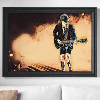 AC DC Painting Poster Art Painting Print Canvas