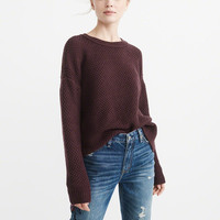 Womens Textured Crewneck Sweater | Womens Tops | Abercrombie.com
