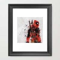 Deadpool Framed Art Print by Melissa Smith