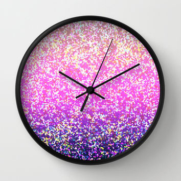 Glitter Graphic Background G104 Wall Clock by MedusArt
