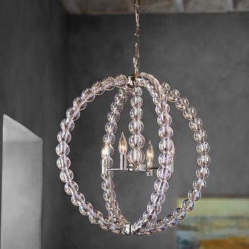 STACKED CRYSTAL CHANDELIER