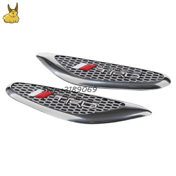 2pcs Car Fender Side Emblem Stickers Auto Decoration Badge Decal for toyota TRD logo Prado Reiz Crown Sienna Alphard Previa Vigo