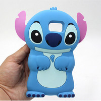 3D Cute Cartoon Lilo Stitch For Samsung Galaxy S7 edge S7 S6 S5 S4 S3 Silicone Case Back Cover Soft Rubber Phone Fundas Capa