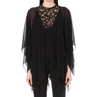 ELIE SAAB - Cape-style silk blouse | Selfridges.com