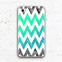 iPhone 4 Case iphone 5 case glitter chevron by CircleDesignStore