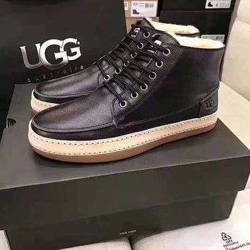 UGG 2018 winter new low to help casual non-slip wear outsole men's boots