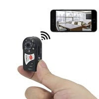 FREDI Motion activated mini hidden camera 720p HD mini wifi camera spy camera for iPhone/Android Phone/ iPad /PC Remote View