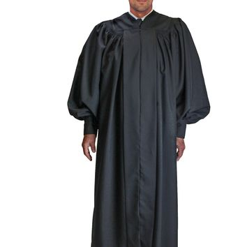 Regal Robes 9071 Gathered Sleeve on Yoke Neckline Zip Front Unisex Robe