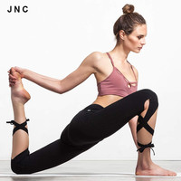 Cute yoga pants sports Running Tights High Waist Leggings Bandage Wrap Pants Dance Leggings For Women Workout Fitness Leggings