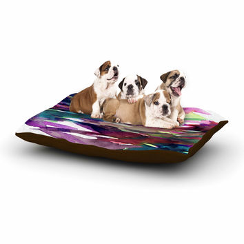 "Ebi Emporium ""Fervor 4"" Magenta Abstract Dog Bed"