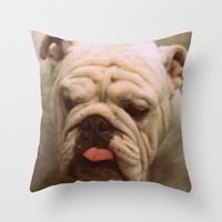 cute stranger Throw Pillow by Marianna Tankelevich