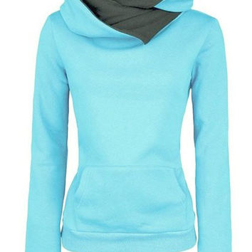 Solid Color Long Sleeve Hoodie