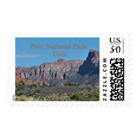 Mountain Zion National Park Postage