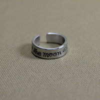 to the moon and back aluminum ring