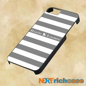 Polo Ralph Lauren Black White Stripes For iPhone, iPod, iPad and Samsung Galaxy Case