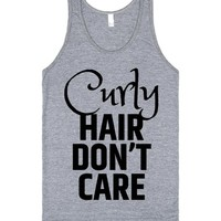 Curly Hair Don't Care Tank Top IDE07261941