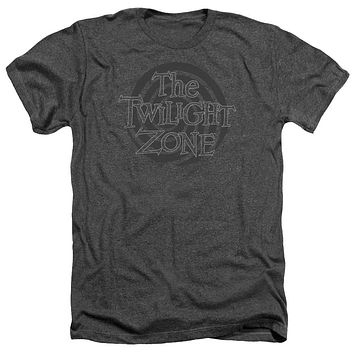 Mens The Twilight Zone Spiral Logo Heathered Tee Shirt