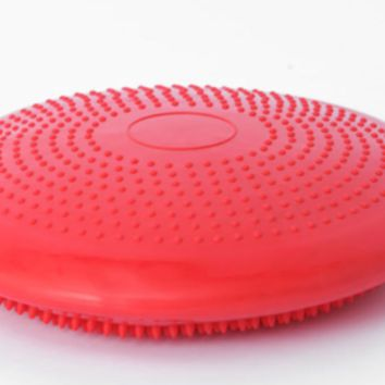 Fitness, Yoga Equipment Wobble Cushion Balance Fitness Board 35cm Fun Red