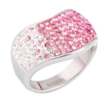 shining full CZ Crystal rhinestone Stainless Steel Couple Wedding rings for men and Women