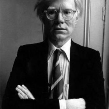"Andy Warhol Poster Black and White Poster 24""x36"""