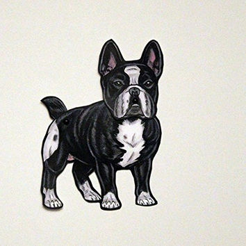 Set of 3 French Bulldog Jointed Paper Doll Gift Tags