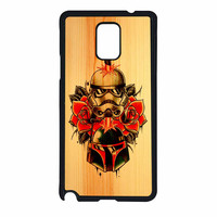 Star Wars Roses Tatto In Wood Samsung Galaxy Note 4 Case