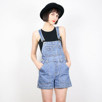 Vintage Overalls Shorts Overall Shorts Shortalls 1990s 90s Grunge Overalls Denim Overalls Jumper Romper Playsuit Denim Shorts XS S Small M